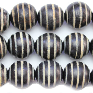 Philippine Black Wood 25mm Swirl Round BeadsBeads by Halcraft Collection