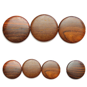 Natural Costa Rican Rosewood Beads Offset Hole 40mm