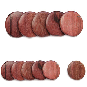 Natural Costa Rican Purple Heart Wood Beads Top Hole 35mm