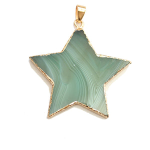 Green Agate 45mm Star PendantPendant by Halcraft Collection