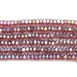 Super Bundle - Glass Purple 3x6mm Faceted Rondell BeadsBeads by Halcraft Collection