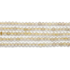 Citrine Stone Faceted Round 3mm BeadsBeads by Halcraft Collection