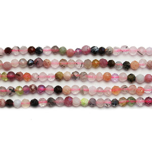 Multi Mixed Stone Faceted Round 3mm Beads