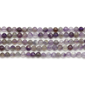 Amethyst Stone Faceted Round 3mm Beads
