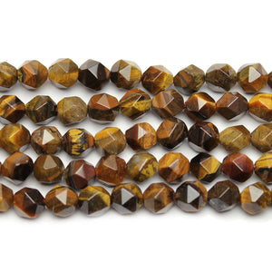 Tigereye Stone Faceted Round 8mm Beads