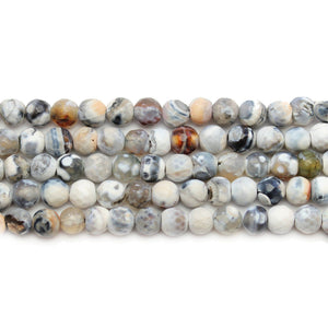 Multi Dyed Agate Stone Faceted Round 6mm Beads