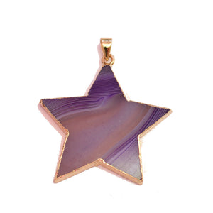 Colgante de estrella de 45 mm de ágata morada de Halcraft Collection