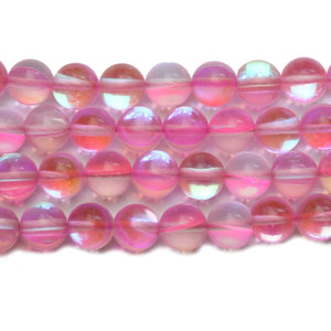 Pink Inside AB Sparkle Round 8mm BeadsBeads by Halcraft Collection