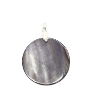 Black Dyed Shell 35mm PendantPendant by Bead Gallery