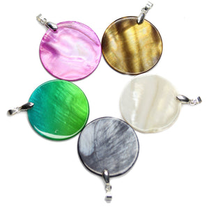 Multi Dyed Shell 35mm PendantPendant by Halcraft Collection