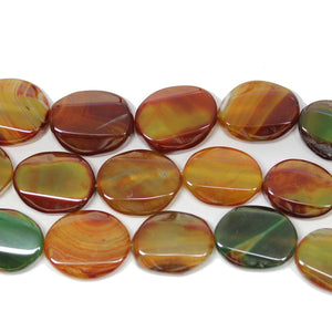 Dyed Agate Oval 15x22mm BeadsBeads by Halcraft Collection
