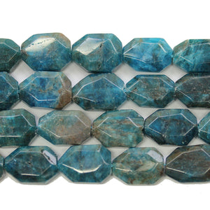 Natural Apatite Stone Faceted Nugget Beads Approx 15x20mmBeads by Halcraft Collection