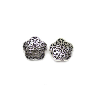 Filigree Flower Multi-Hole Silver Plated Beads 20mmBeads by Halcraft Collection