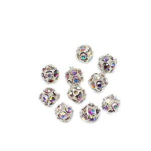 Rhinestones Ball Round 8mm BeadsBeads by Halcraft Collection