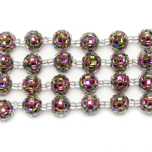 Multi Round Glass Rhinestones on Resin 13mm BeadsBeads by Halcraft Collection