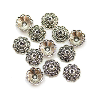 Silver Plated Zinc Alloy 13mm Bead CapBead Cap by Bead Gallery