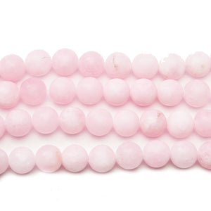 Pink Dyed Dolomite Stone Round 10mm Beads