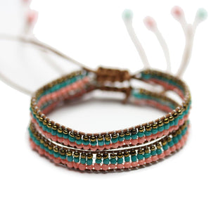 Beaded Glass BangleBracelets by Bead Gallery