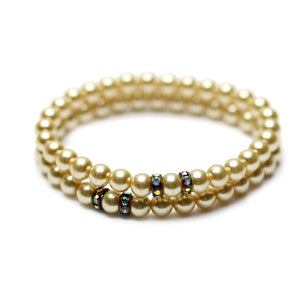 Glass Pearl Glitz BraceletsBracelets by Halcraft Collection