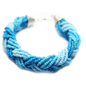 Braided Glass BraceletBracelets by Halcraft Collection
