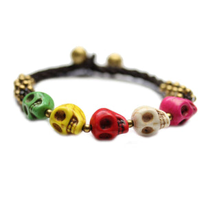 Skulls Stone BraceletBracelets by Halcraft Collection