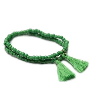 Tassel Glass BraceletsBracelets by Halcraft Collection