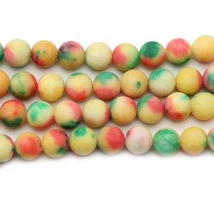 Multi Dyed Dolomite Stone Round 10mm BeadsBeads by Halcraft Collection