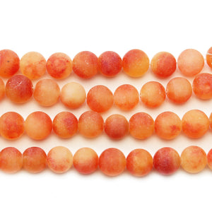Orange Dyed Dolomite Stone Round 10mm BeadsBeads by Halcraft Collection