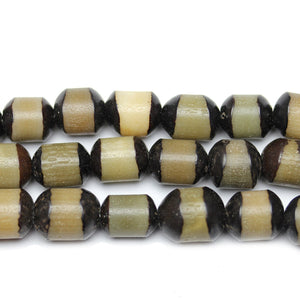 Carved Bodhi Nut Oval 10x12mm Beads