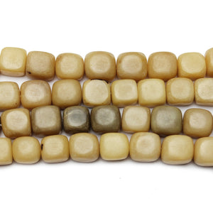 Bodhi Nut Cube 8-10mm Beads