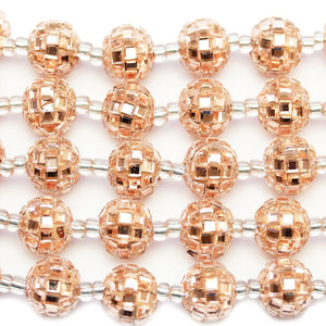 Copper Glass Rhinestones on Resin Round 13mm Beads