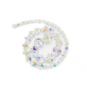 Multi-pack - Preciosa Bicone Crystal AB Beads (sizes 4mm, 6mm, 8mm)