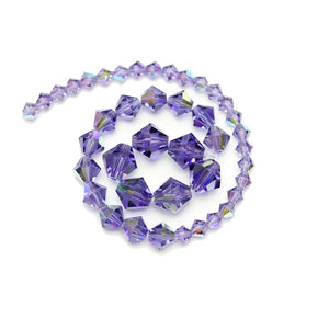 Multi-pack - Preciosa Bicone Tanzanite AB Beads (sizes 4mm, 6mm, 8mm)Beads by Halcraft Collection