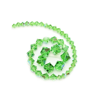 Multi-pack - Preciosa Bicone Peridot AB Beads (sizes 4mm, 6mm, 8mm)