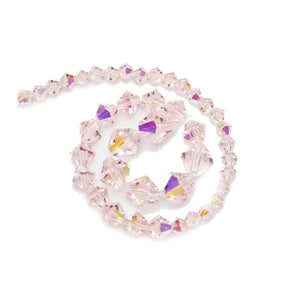 Multi-pack - Preciosa Bicone Light Rose AB Beads (sizes 4mm, 6mm, 8mm)