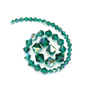 Multi-pack - Preciosa Bicone Emerald AB Beads (sizes 4mm, 6mm, 8mm)