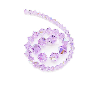 Multi-pack - Preciosa Bicone Violet AB Beads (sizes 4mm, 6mm, 8mm)