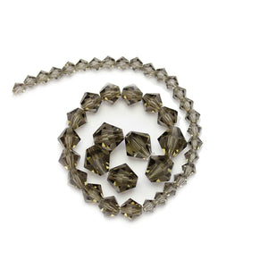 Multi-pack - Preciosa Bicone Smokey Diamond Beads (sizes 4mm, 6mm, 8mm)