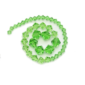 Multi-pack - Preciosa Bicone Peridot Beads (sizes 4mm, 6mm, 8mm)