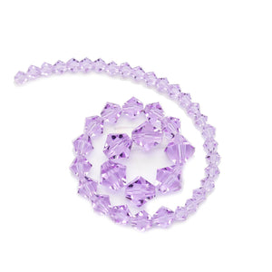 Multi-pack - Preciosa Bicone Violet Beads (sizes 4mm, 6mm, 8mm)Beads by Halcraft Collection