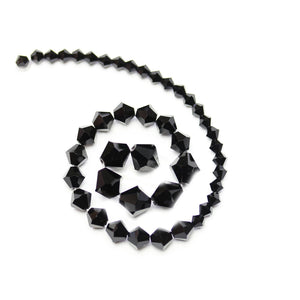 Multi-pack - Preciosa Bicone Jet Black Beads (sizes 4mm, 6mm, 8mm)Beads by Halcraft Collection