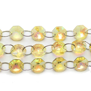 Super Bundle - Glass Amber 14mm Faceted Disk BeadsBeads by Halcraft Collection