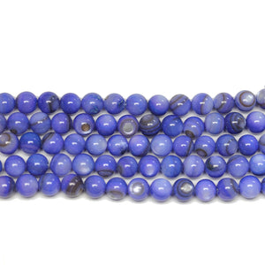Purple Dyed Shell Round 6mm BeadsBeads by Halcraft Collection