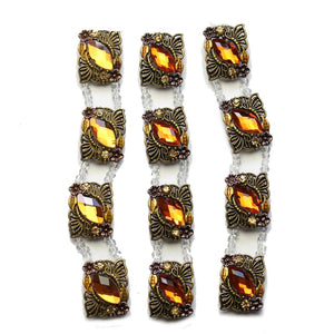 Super Bundle - Metal Amber Butterfly Slider (3packs/12pcs)Slider by Halcraft Collection
