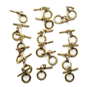 Super Bundle - Antique Gold Tone Toggle Clasp 15mmFindings by Halcraft Collection