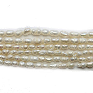 Super Bundle - Fresh Water Pearl White 3mm Rice BeadsBeads by Halcraft Collection