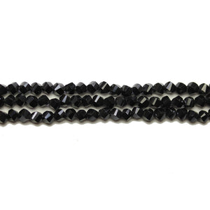 Super Bundle - Glass Black Step Faceted 4mm BeadsBeads by Halcraft Collection
