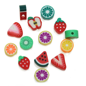 Assorted Fimo Fruit Bead Mix - Beads by Bead Gallery