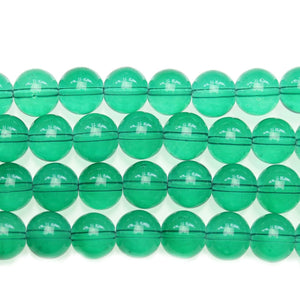 Round Opal Dark Green 10mm Glass Beads - Beads by Bead Gallery