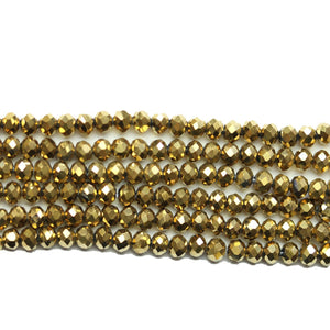 Super Bundle - Glass Gold Iris 3x4mm Faceted Rondell BeadsBeads by Halcraft Collection
